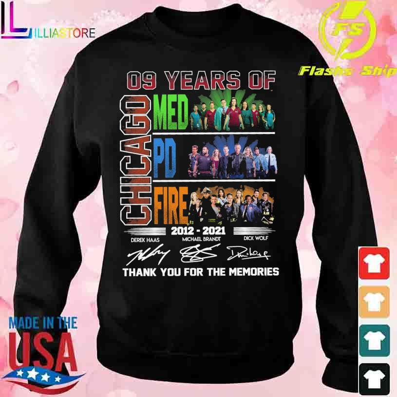 09 Years of Chicago Med Pd Fire 2012 2021 Derek Michael Brandt Dick Wolf signatures s sweater