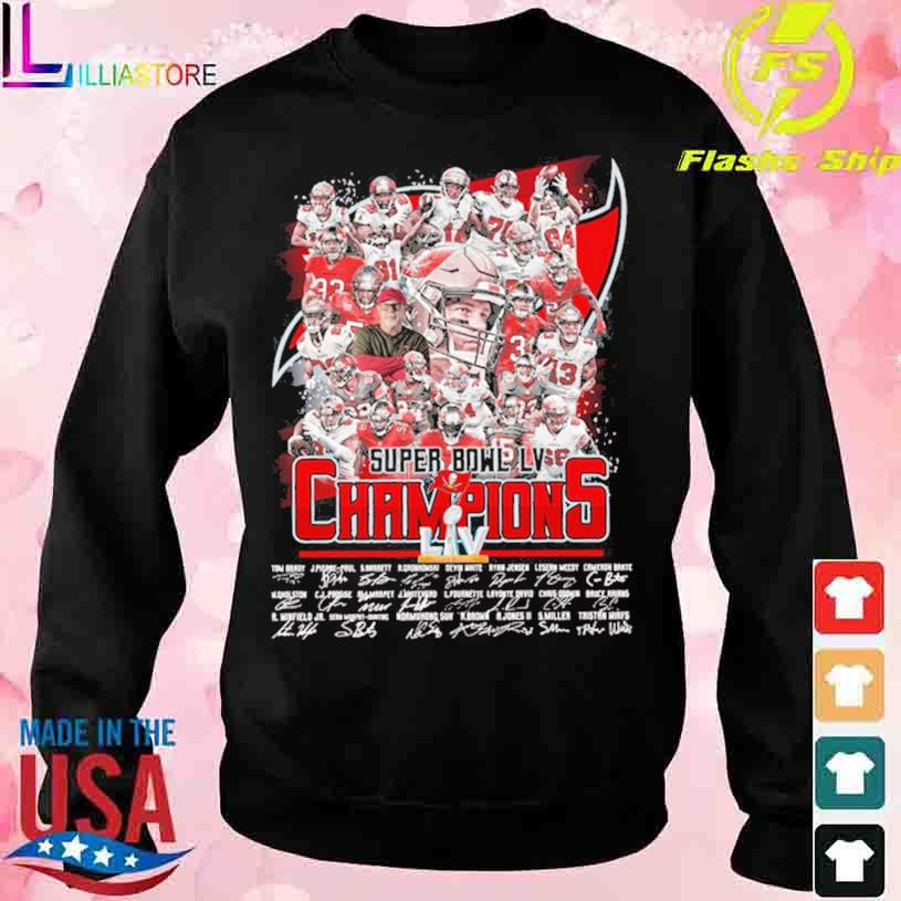 Tampa Bay Buccaneers Super Bowl LV Champions Liv signatures s sweater