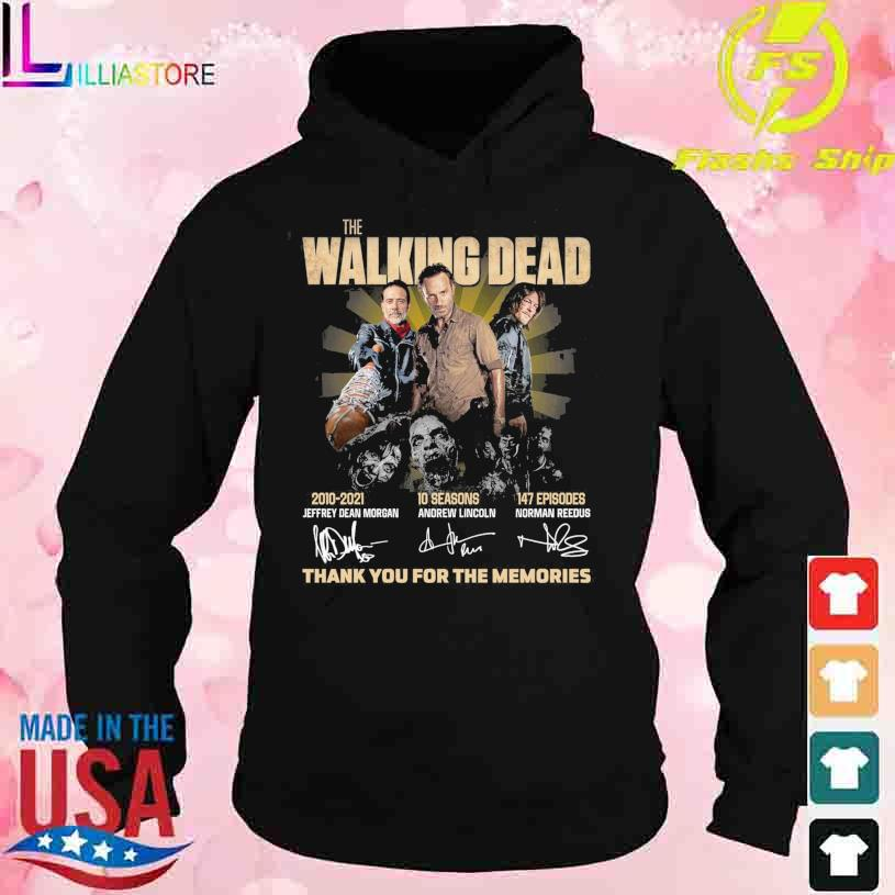 The Walking Dead 2010-2021 10 seasons 147 episodes signatures thank you for the memories s hoodie