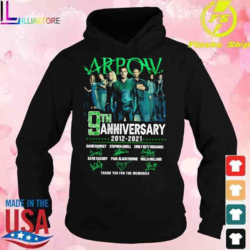 Arpow 9TH Anniversary 2012 2021 Thank You for the memories signatures s hoodie