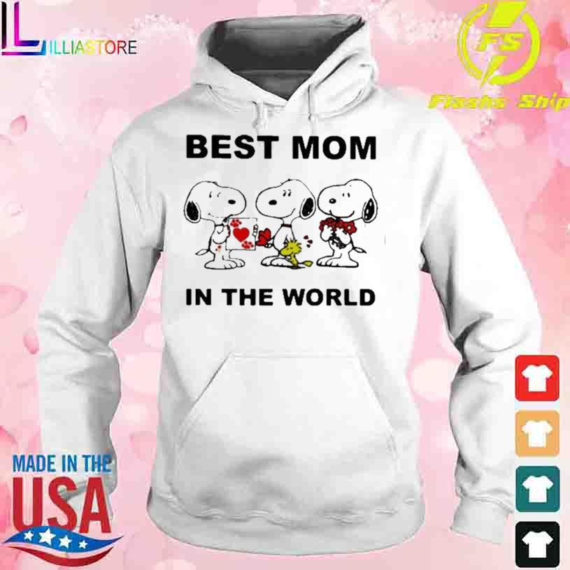 Best Mom In The World Snoopy Shirt hoodie